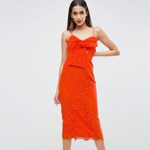 ASOS Design Lace Midi Dress (TALL BRAND)